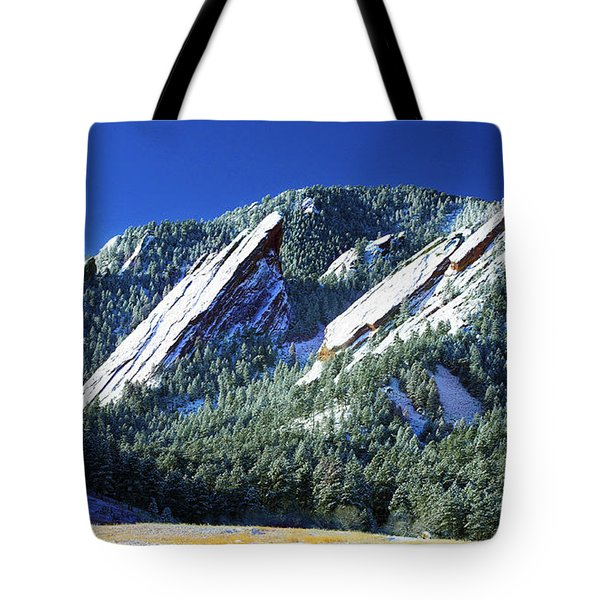 Colorado Flatirons Tote Bag by Marilyn Hunt