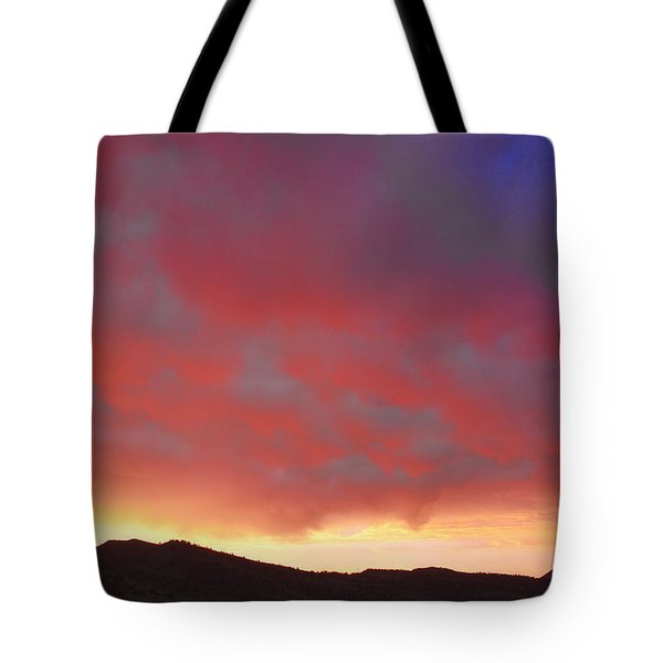 Colorado Front Range Rocky Mountains Foothills Sunset Tote Bag by James BO  Insogna