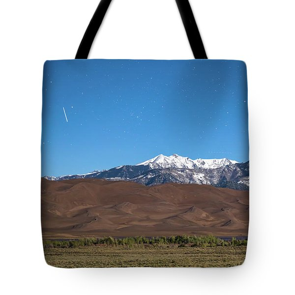 Colorado Great Sand Dunes With Falling Star Tote Bag by James BO Insogna