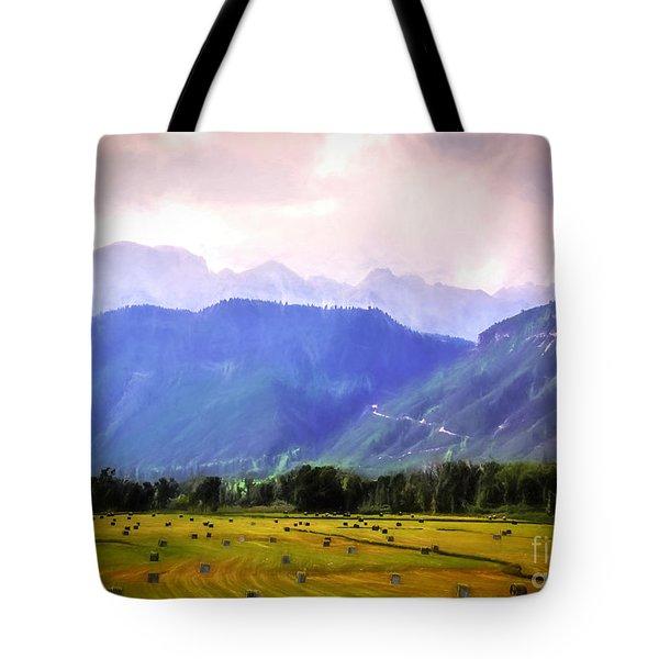Colorado Harvest Watercolor  Tote Bag