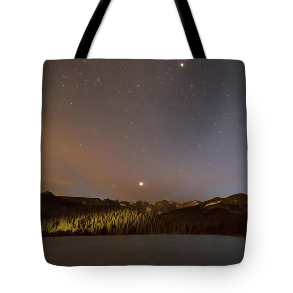 Tote Bag featuring the photograph Colorado Indian Peaks Stellar Night by James BO Insogna