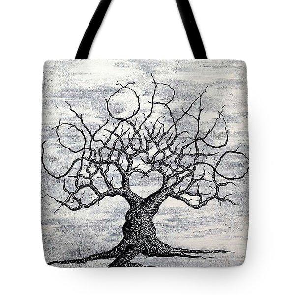 Colorado Love Tree Blk/wht Tote Bag