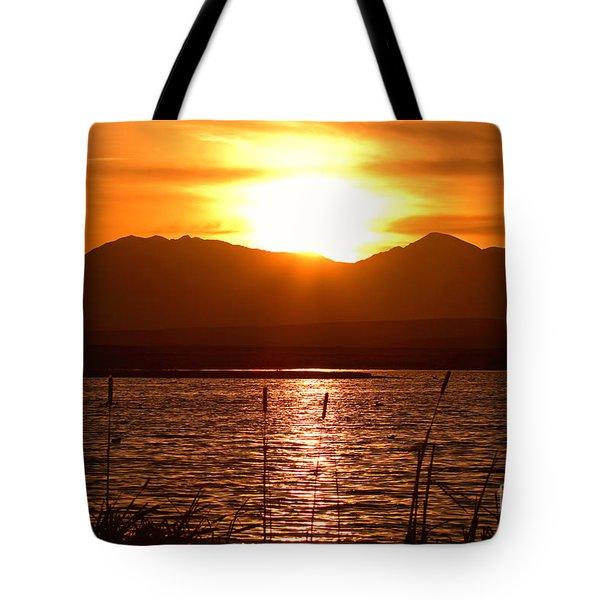 Colorado Marsh At Sunset Tote Bag