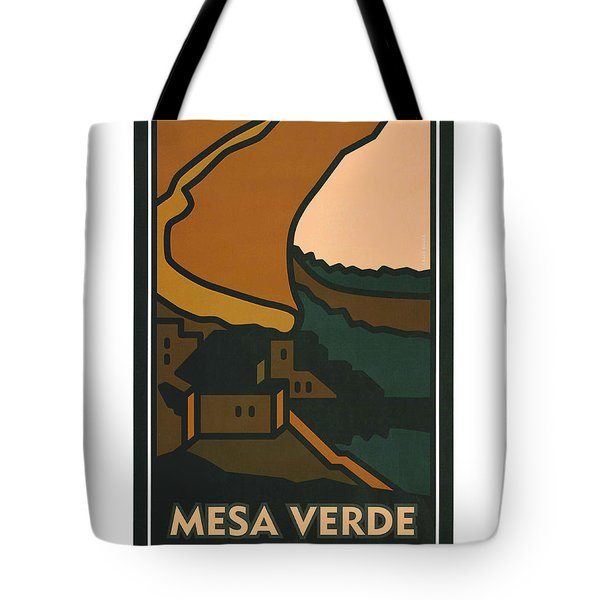 Colorado Mesa Verde Tote Bag