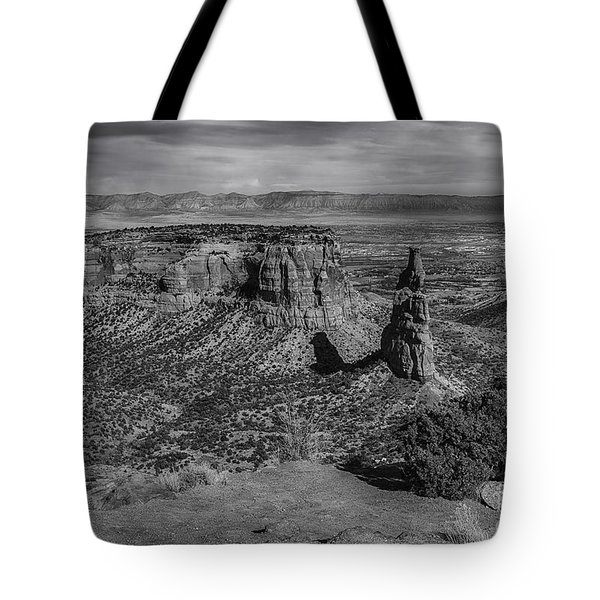 Tote Bag featuring the photograph Colorado National Monument by Bitter Buffalo Photography