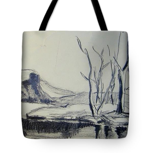 Colorado Pencil Sketch Tote Bag by Judith Redman