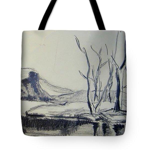 Colorado Pencil Sketch Tote Bag by Judith Redman