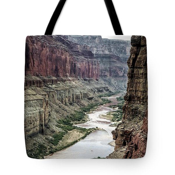 Colorado River And The East Rim Grand Canyon National Park Tote Bag