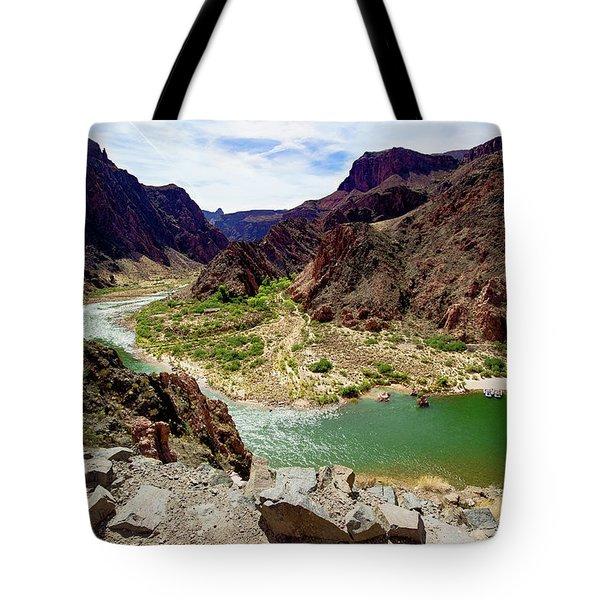 Colorado River Around Boat Beach Tote Bag
