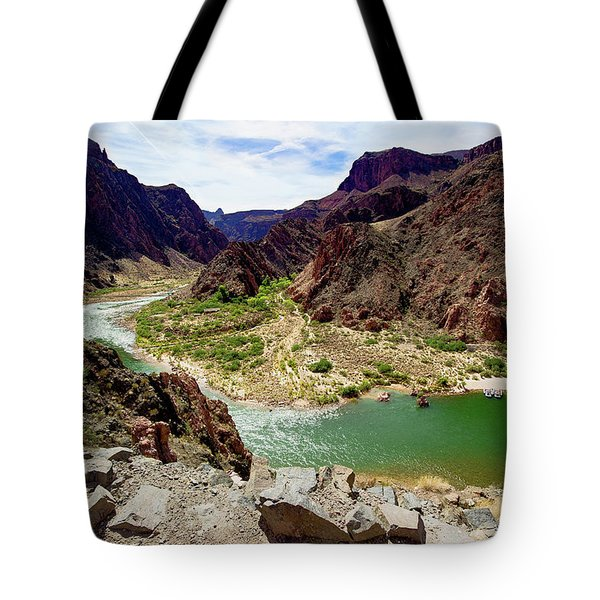 Colorado River Around Boat Beach Tote Bag
