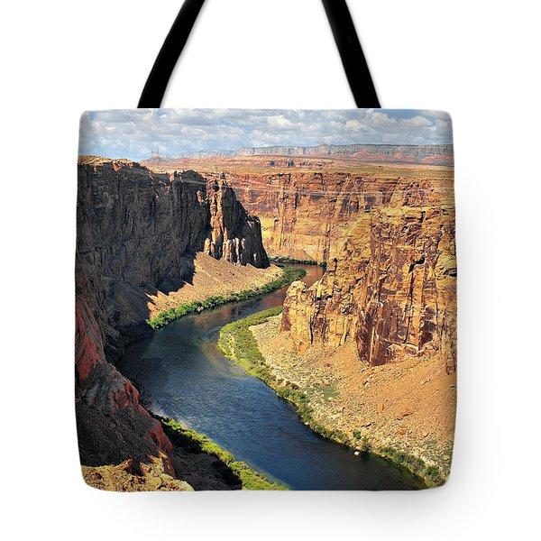 Colorado River At Marble Canyon Az Tote Bag by Christine Till
