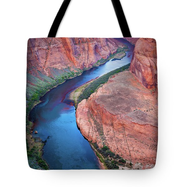 Colorado River Bend Tote Bag by Inge Johnsson