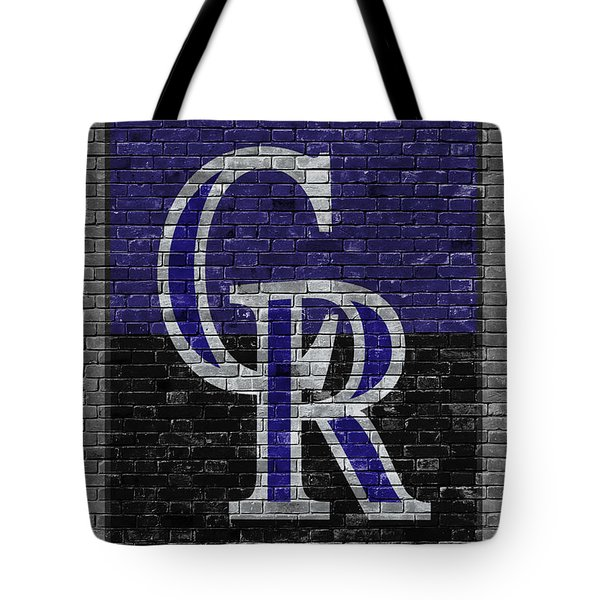 Colorado Rockies Brick Wall Tote Bag