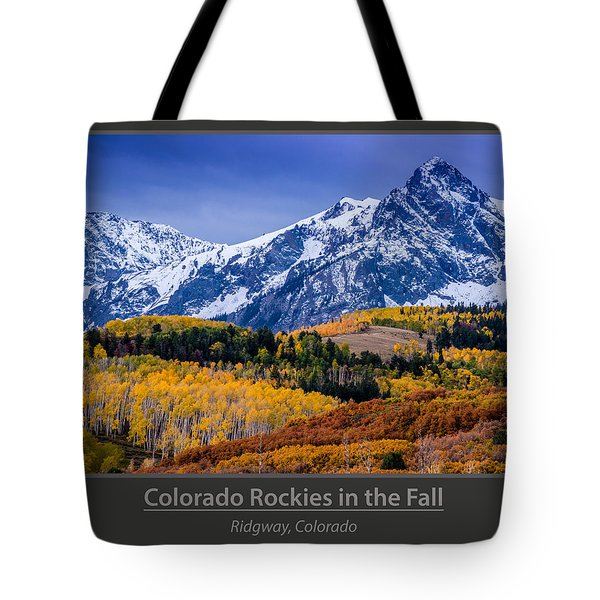 Colorado Rockies In The Fall - Ridgway Tote Bag by Gary Whitton