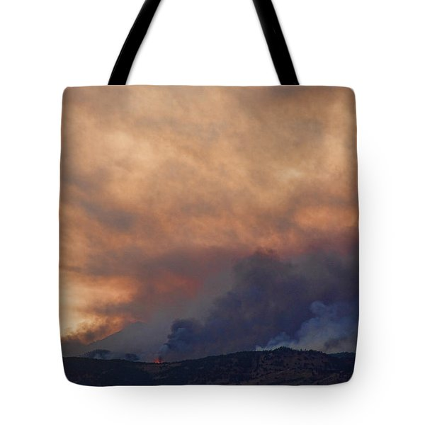 Colorado Rockies On Fire Tote Bag by James BO  Insogna