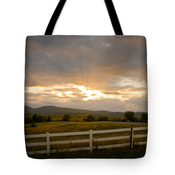 Colorado Rocky Mountain Country Sunset Tote Bag by James BO  Insogna