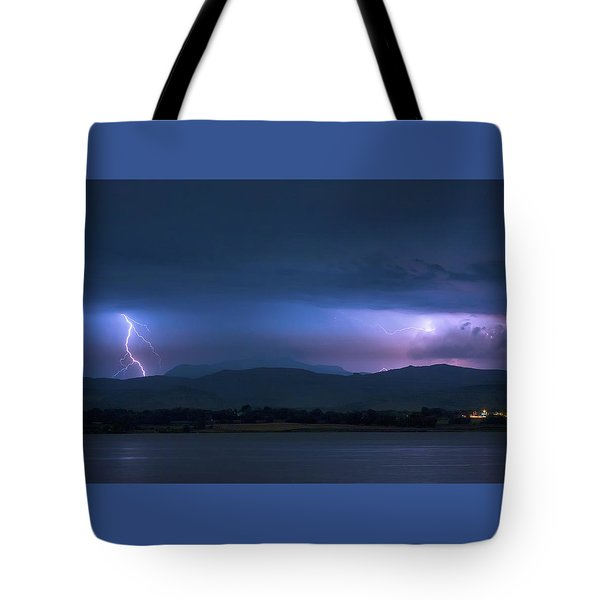 Tote Bag featuring the photograph Colorado Rocky Mountain Foothills Storm by James BO Insogna