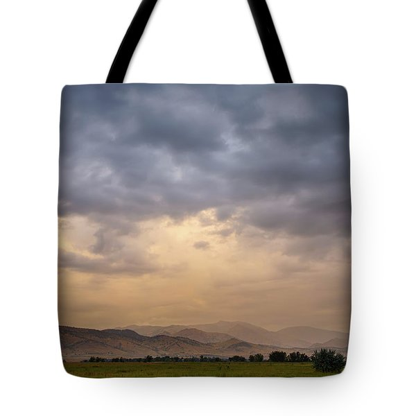 Tote Bag featuring the photograph Colorado Rocky Mountain Foothills Storms by James BO Insogna