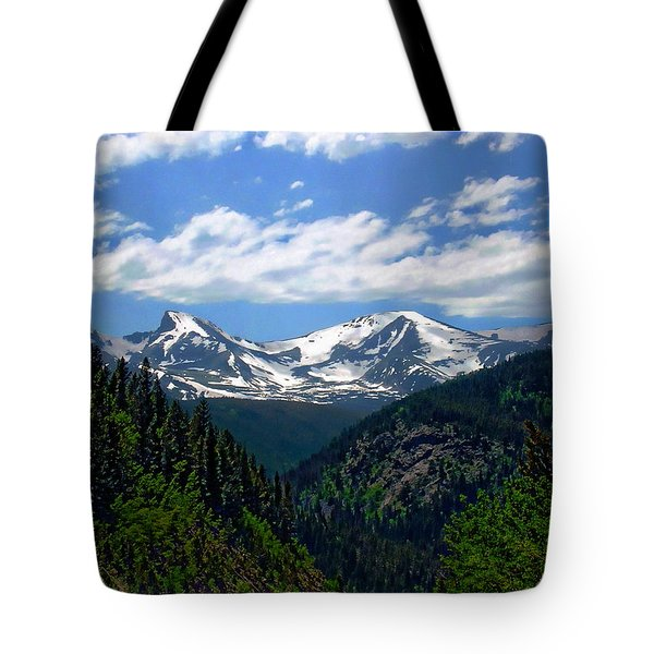 Colorado Rocky Mountains Tote Bag by Anthony Dezenzio