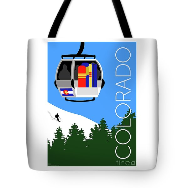 Colorado Ski Country Blue Tote Bag