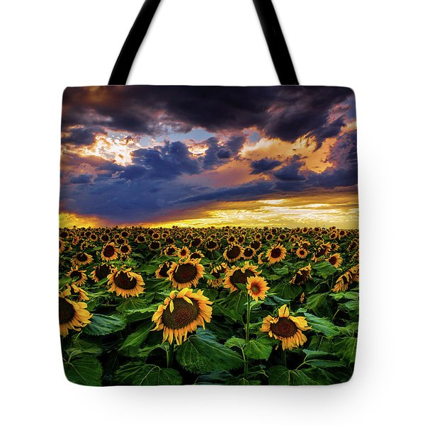 Colorado Sunflowers At Sunset Tote Bag