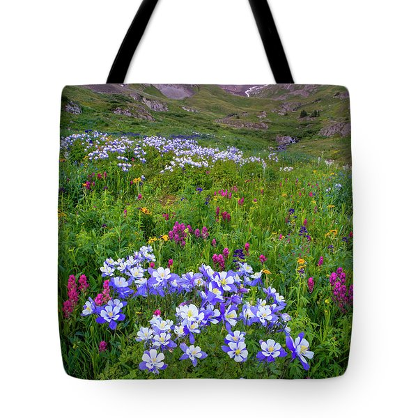 Tote Bag featuring the photograph Colorado Sunrise - American Basin by Aaron Spong