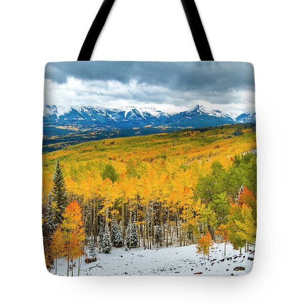 Colorado Valley Of Autumn Color Tote Bag