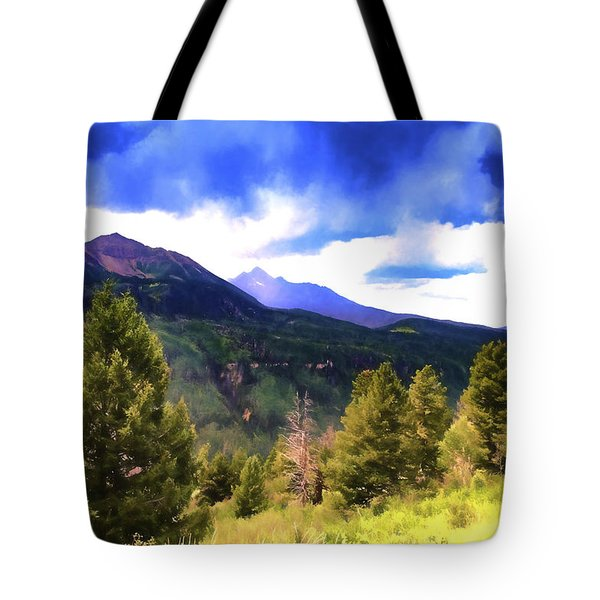 Colorado Watercolor Tote Bag by James Bethanis
