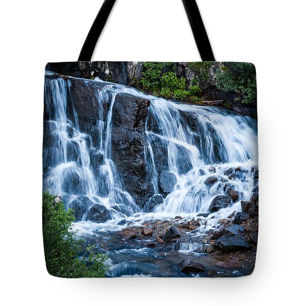 Tote Bag featuring the photograph Colorado Waterfall by Jay Stockhaus