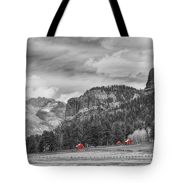 Colorado Western Landscape Red Barns Tote Bag by James BO  Insogna