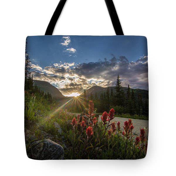 Colorado Wildflowers Under Evening Sun Tote Bag