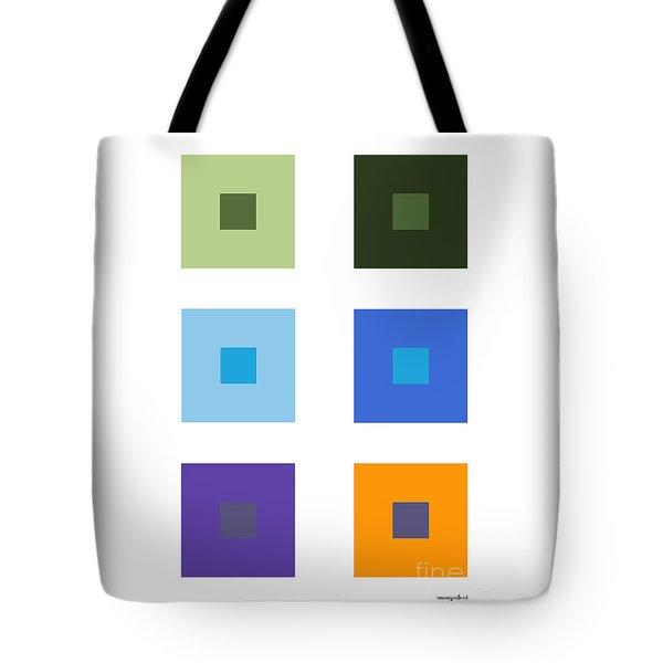 Colored 6 Squares. Tote Bag