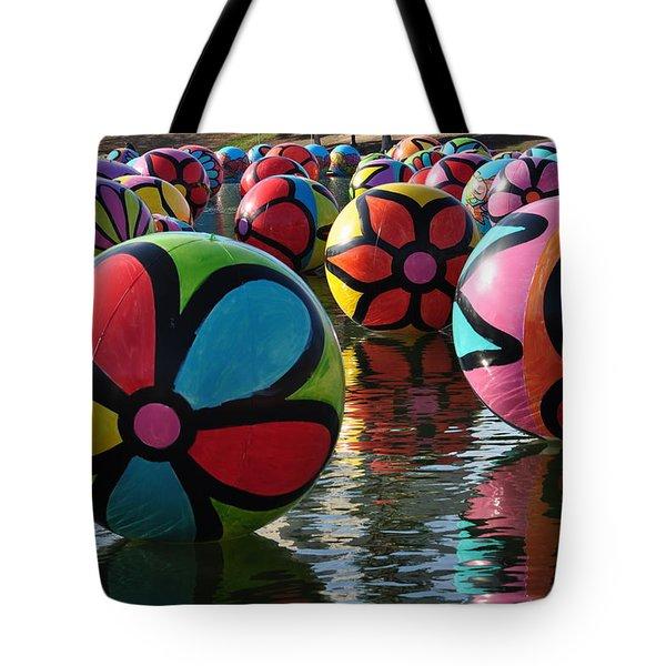 Colored Balls Tote Bag by Joe  Burns