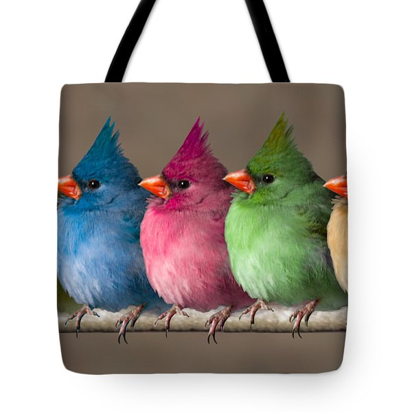 Colored Chicks Tote Bag