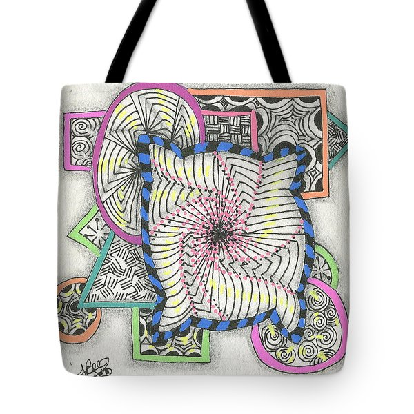 Colored Frames Tote Bag