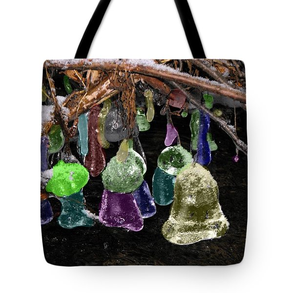Colored Ice Bells Tote Bag