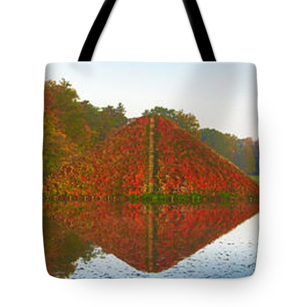 Colored Lake Pyramid Tote Bag