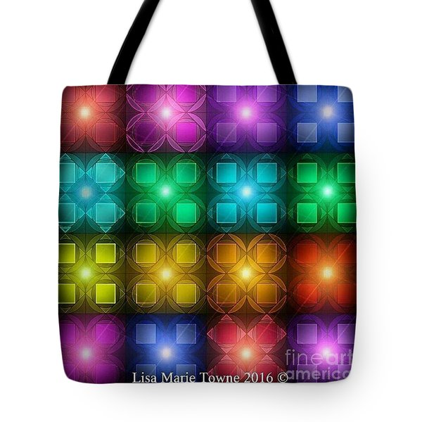 Colored Lights Tote Bag