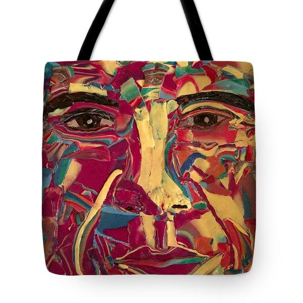 Colored Man Tote Bag