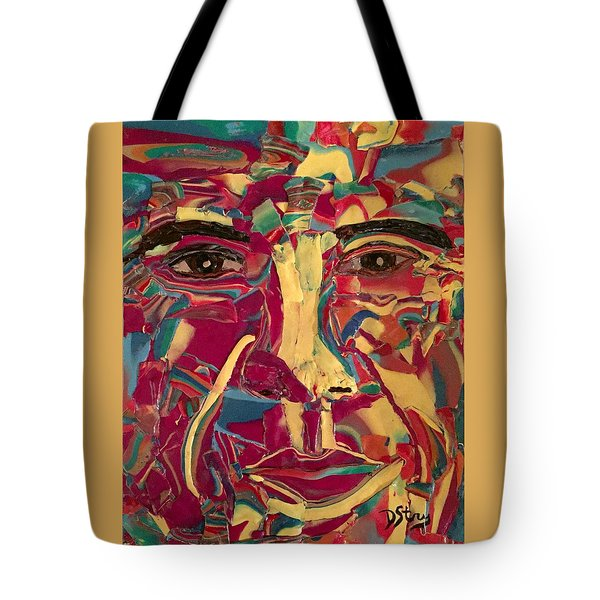 Colored Man Tote Bag