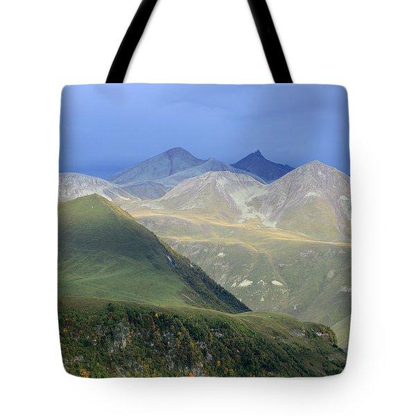 Colored Peaks Of The Caucasus Tote Bag
