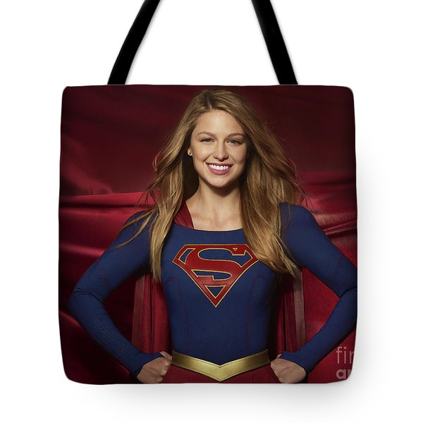 Colored Pencil Study Of Supergirl - Melissa Benoist Tote Bag