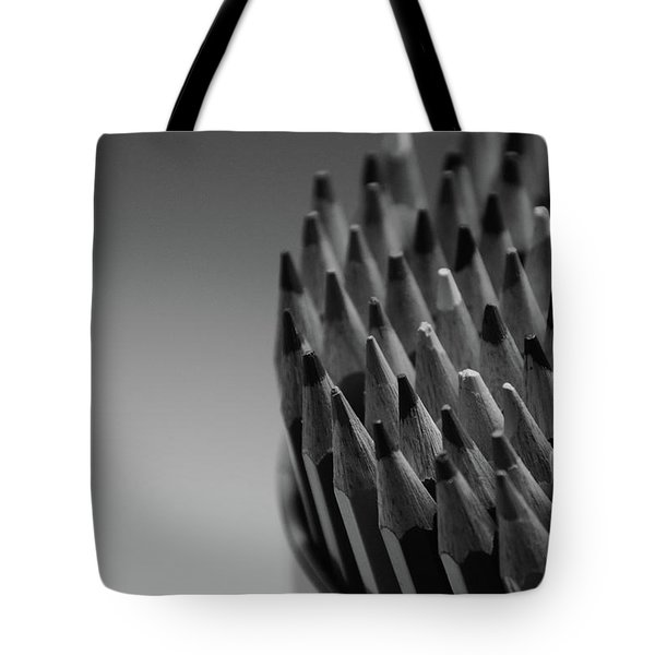 Colored Pencils - Black And White Tote Bag