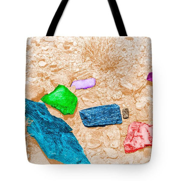 Colored Rocks 1 Tote Bag