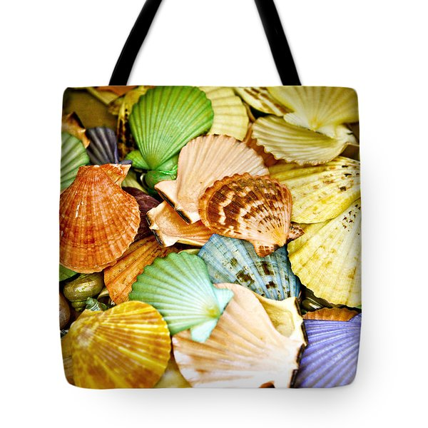 Colored Shells Tote Bag by Marilyn Hunt