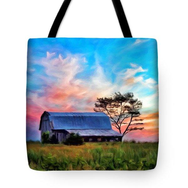 Colored Sunrise Tote Bag
