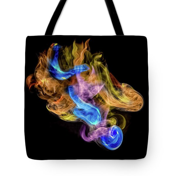 Tote Bag featuring the photograph Colored Vapors by Rikk Flohr