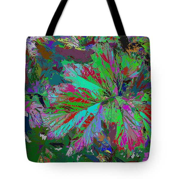 Colorfication - Leafy Colored Tote Bag