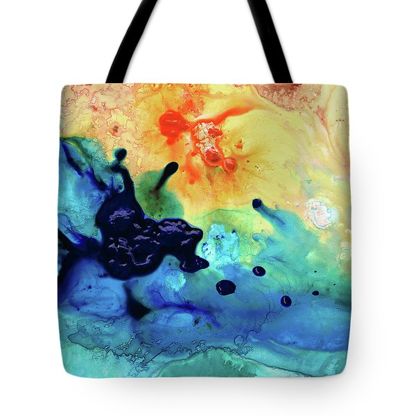 Colorful Abstract Art - Blue Waters - Sharon Cummings Tote Bag