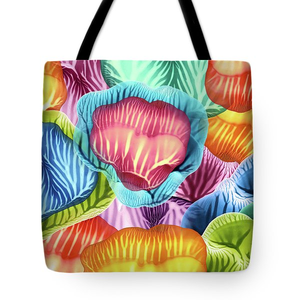 Colorful Abstract Flower Petals Tote Bag
